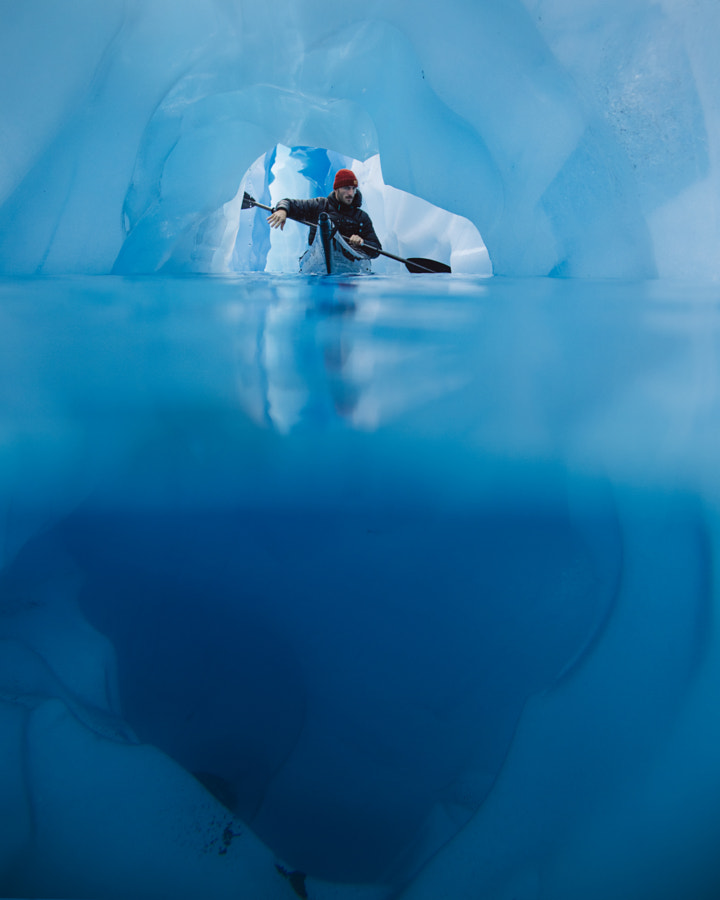 Kayaking Through Glaciers In Iceland by Alex Strohl on 500px.com