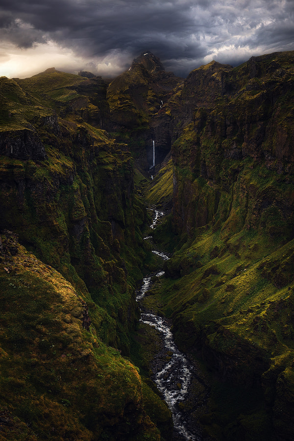 Dramatic Canyon in Iceland