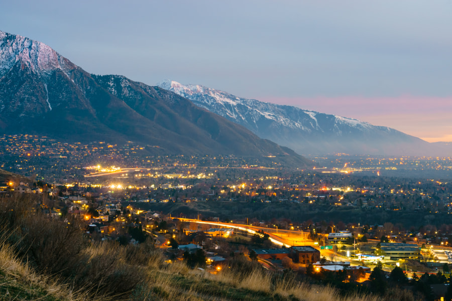 Photograph Salt Lake City Mountains At Dusk by James Udall on 500px