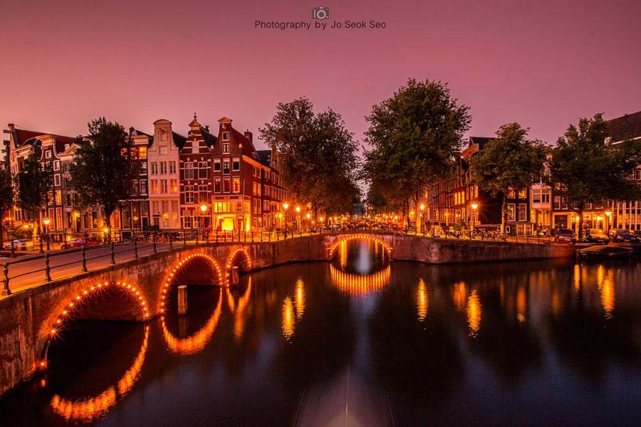 Amsterdam night view.  by Jo Seok Seo on 500px.com