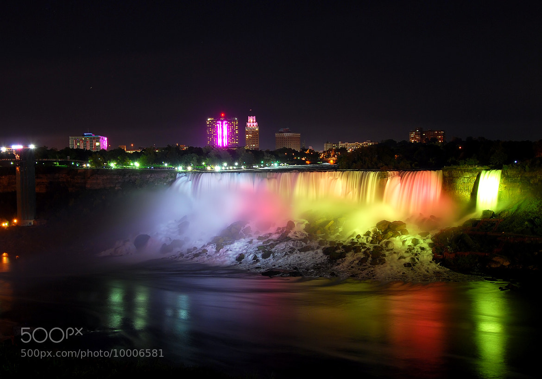 Photograph Niagara Falls by night by Edmond Gunarso on 500px