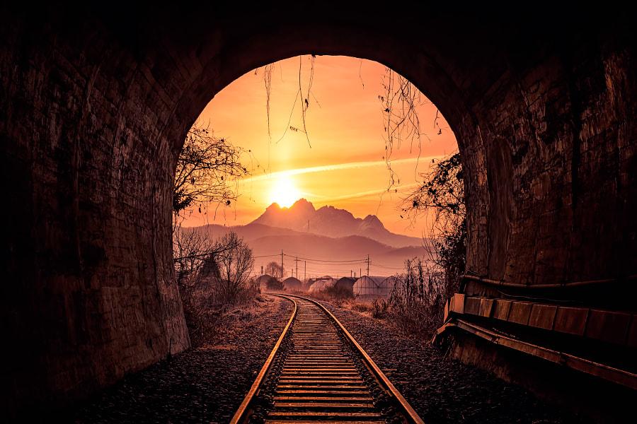 Sunrise on a tunnel by yongyeol Kim on 500px.com