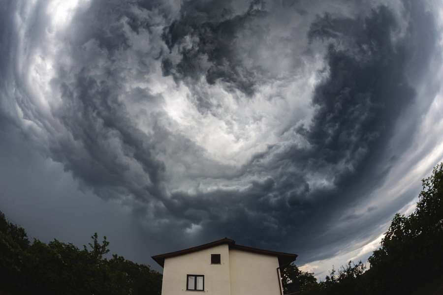 Dramatic Clouds Above House by Jure Batagelj on 500px.com