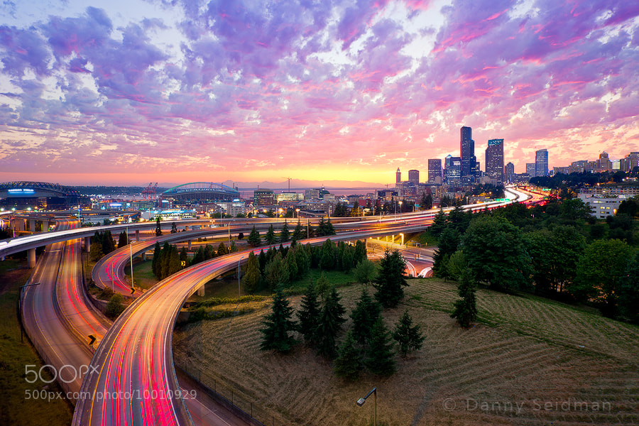 Photograph Downtown Sunset by Danny Seidman on 500px