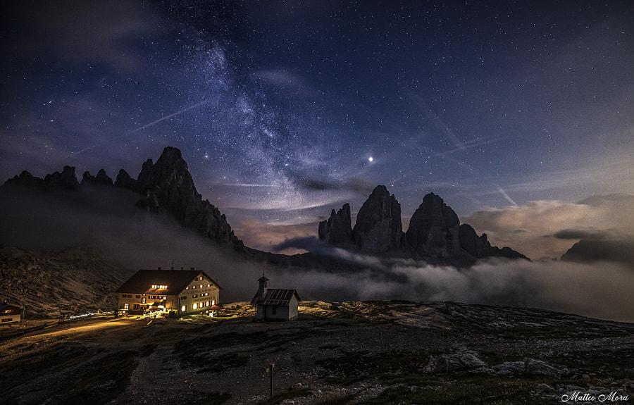 Spuntano le Tre Cime dalle nuvole by Matteo Mora on 500px.com