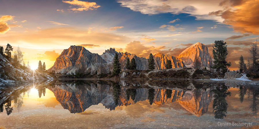 Sunset in Falzarego by carsten bachmeyer on 500px.com