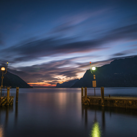 Long sunset on lake Garda.