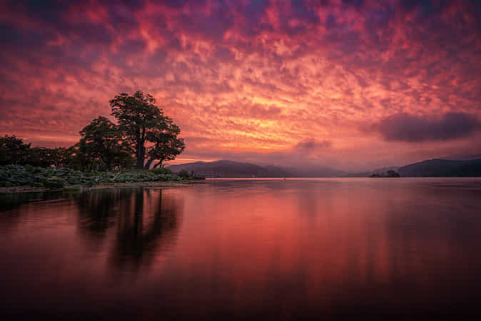 A burning sky by c1113