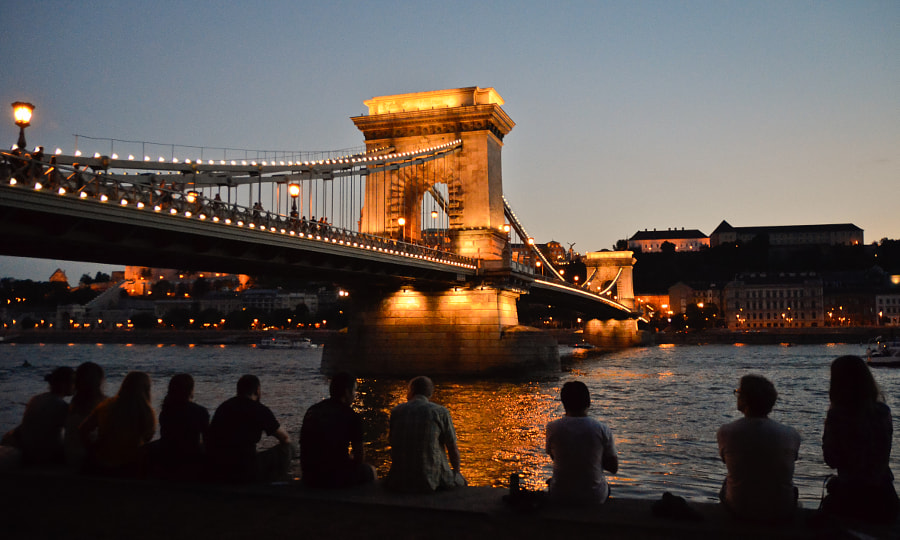 Photograph Chilling at the Chain Bridge by Peter Zelnik on 500px