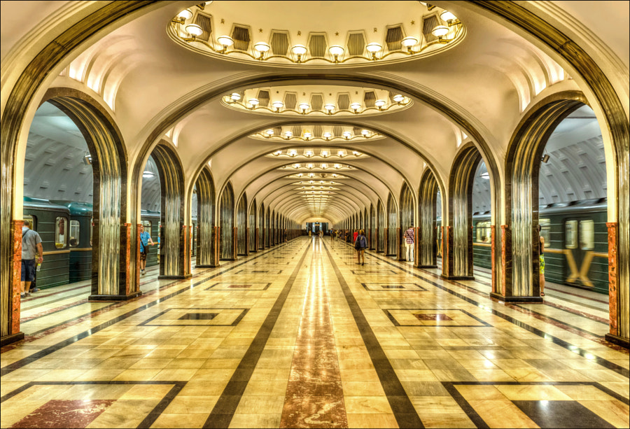 Photograph Moscow Metro - Mayakovskaya by Nick_Moulds on 500px