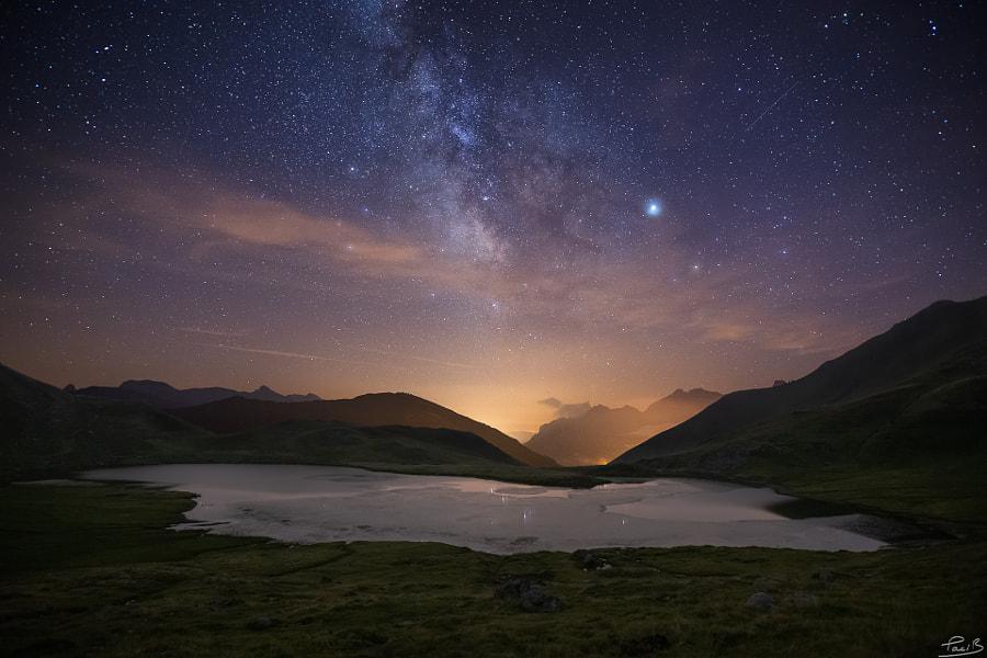 Voie Lactée sur le lac d'Escalar, Astùn