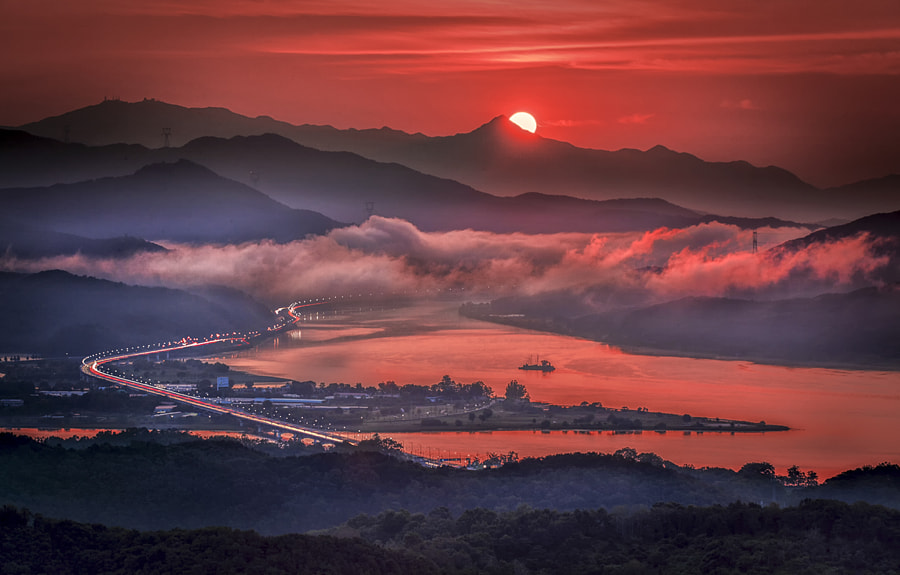 The sunrise by c1113  on 500px.com
