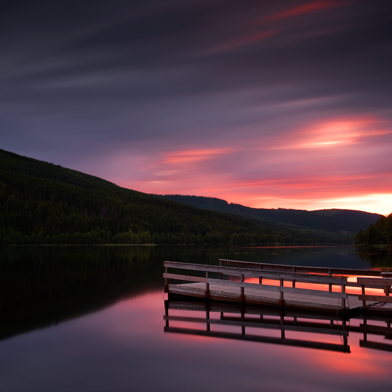 Photograph Lake Hoversjoen Sunset by Anders Naesset on 500px