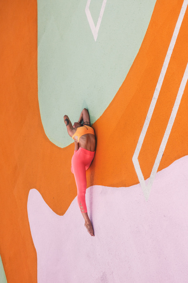 Young Woman Practicing Outdoor Yoga in Miami by Ernesto Pérez on 500px.com