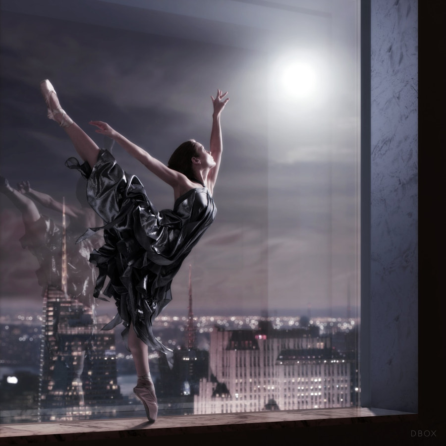 Photograph ballerina- dancing in the night - 432 park avenue by Vik Tory on 500px