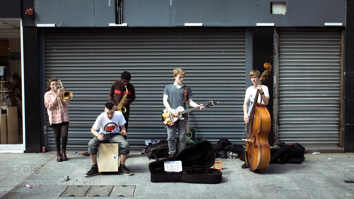 Photograph Busking by Stephen Sanders on 500px
