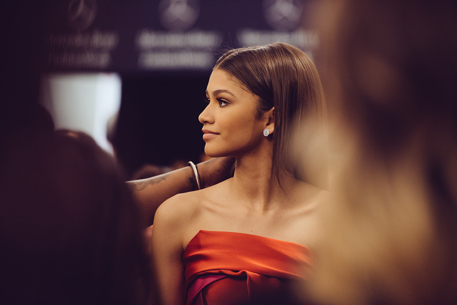 Photograph Zendaya Backstage Before Go Red for Women Show by Grant Friedman on 500px