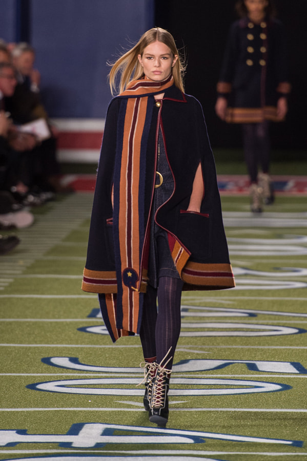 Photograph Anna Ewers Walking Runway for Tommy Hilfiger by Grant Friedman on 500px