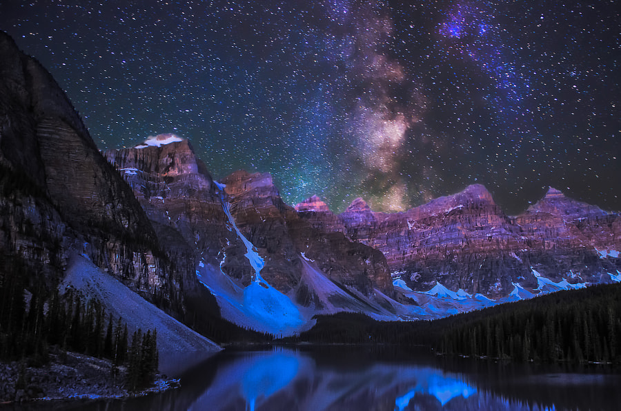 Minuit, Milkyway and Moraine by Atanu Bandyopadhyay on 500px.com
