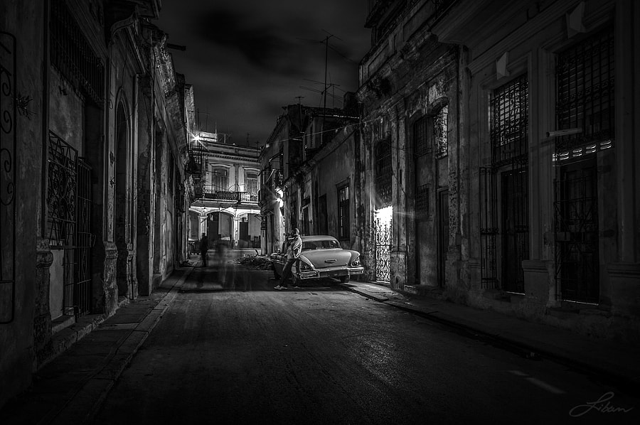 Photograph The essence of night by Liban Yusuf B&W on 500px