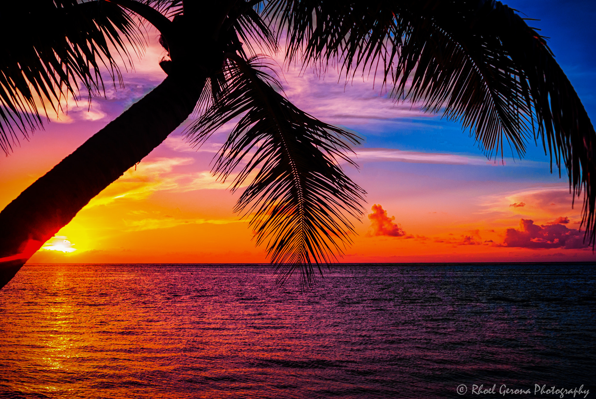 Tropical Island Sunset: Tropical Island Sunset By Rhoel Gerona / 500px