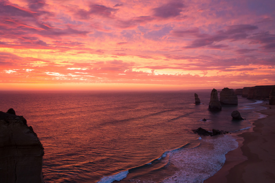 sunset at twelve apostles
