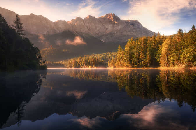 Golden Morning in the Alps by Daniel Fleischhacker