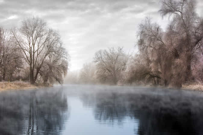 Misty river by Robert Didierjean