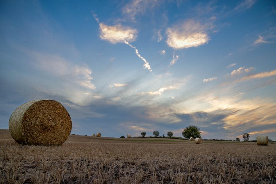 Hay Bales at sunset by Pradipta Basu on 500px.com