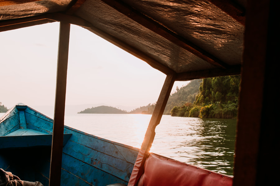 Old boat during sunset on Lake Kivu in Rwanda by Aidan Campbell on 500px.com