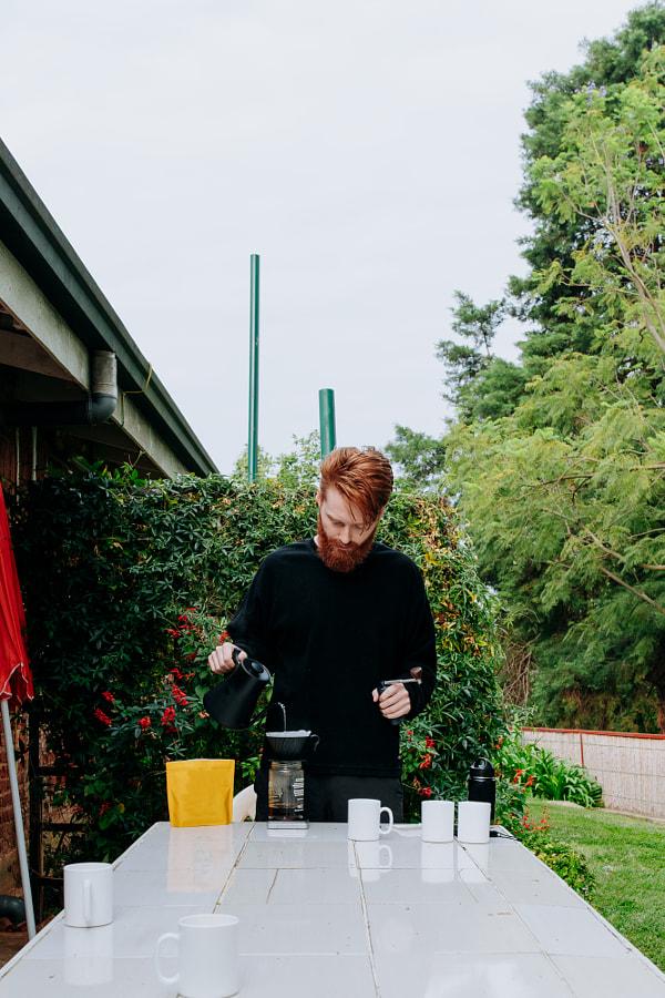 Traveler brewing coffee in Rwanda by Aidan Campbell on 500px.com