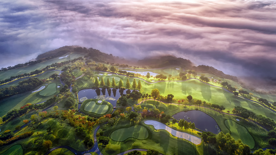 A golf course on the clouds by c1113  on 500px.com