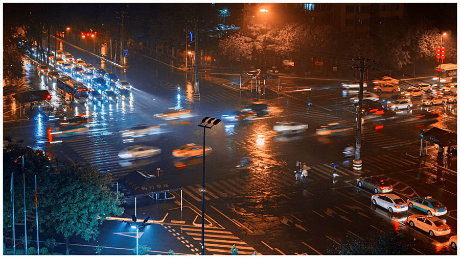 《雨夜》Night Rain by Jim  on 500px.com
