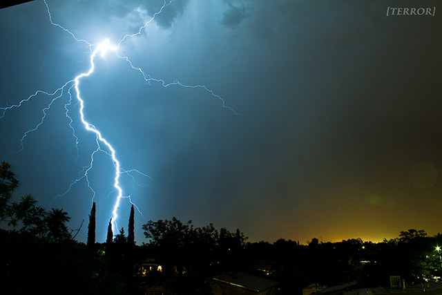 Photograph Albuquerque Lightning Storm by Terror Ography on 500px