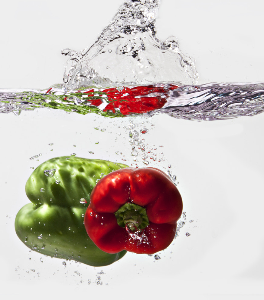 Photograph Peppers Splash by Veronica Beaudry on 500px