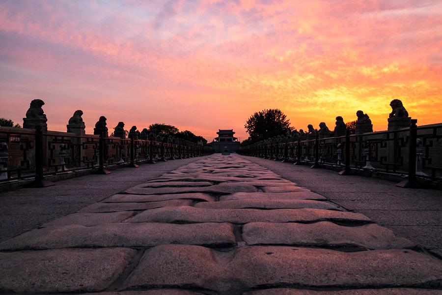 彩霞满天卢沟桥 by 瑞雪  on 500px.com