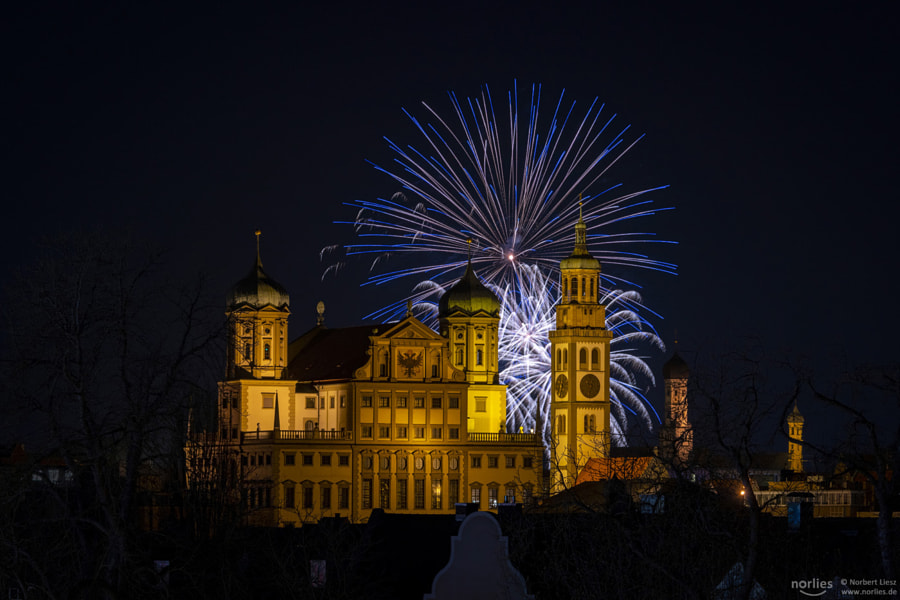 fireworks and town hall by Norbert Liesz on 500px.com