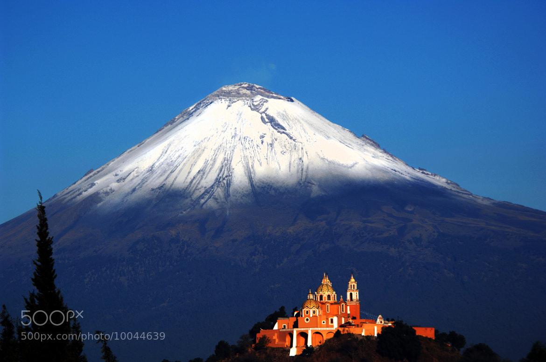 Photograph church and snowy volcano by Alfredo Garciaferro Macchia on 500px