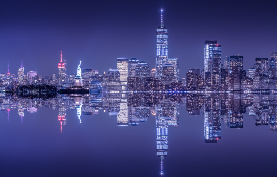 Manhattan in Blue Hour by John S on 500px.com