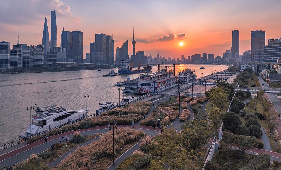 上海日落 Sunset in Shanghai by Artravelersr  on 500px.com