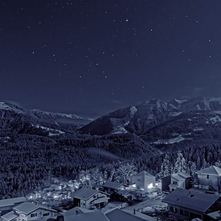 Night in the alps