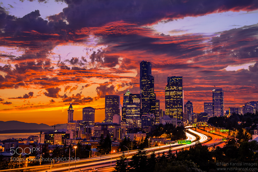 Photograph Fire in the Sky by Nitin Kansal on 500px