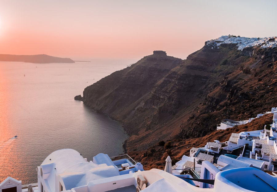 Sunset in Santorini by 128elen on 500px.com