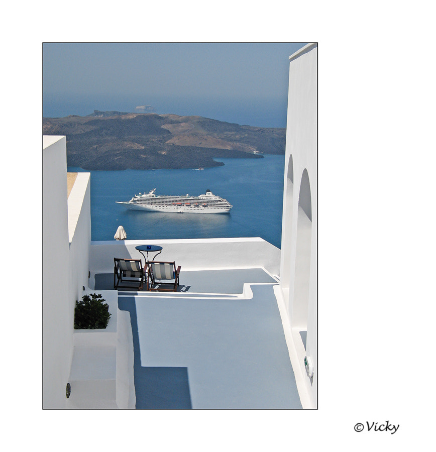 Photograph terrace with a view # 2, Santorini by Vicky Dens on 500px