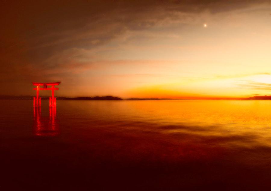 Lake Biwa sunset by yoshitaka ooyama y's photo Japan on 500px.com