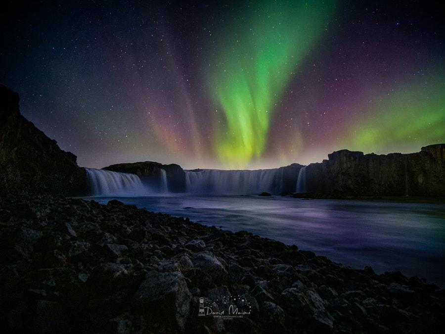 Godafoss at night by David Maimó Lázaro on 500px.com