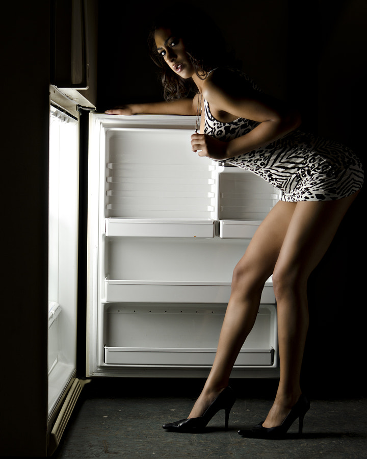 Cassie and the fridge