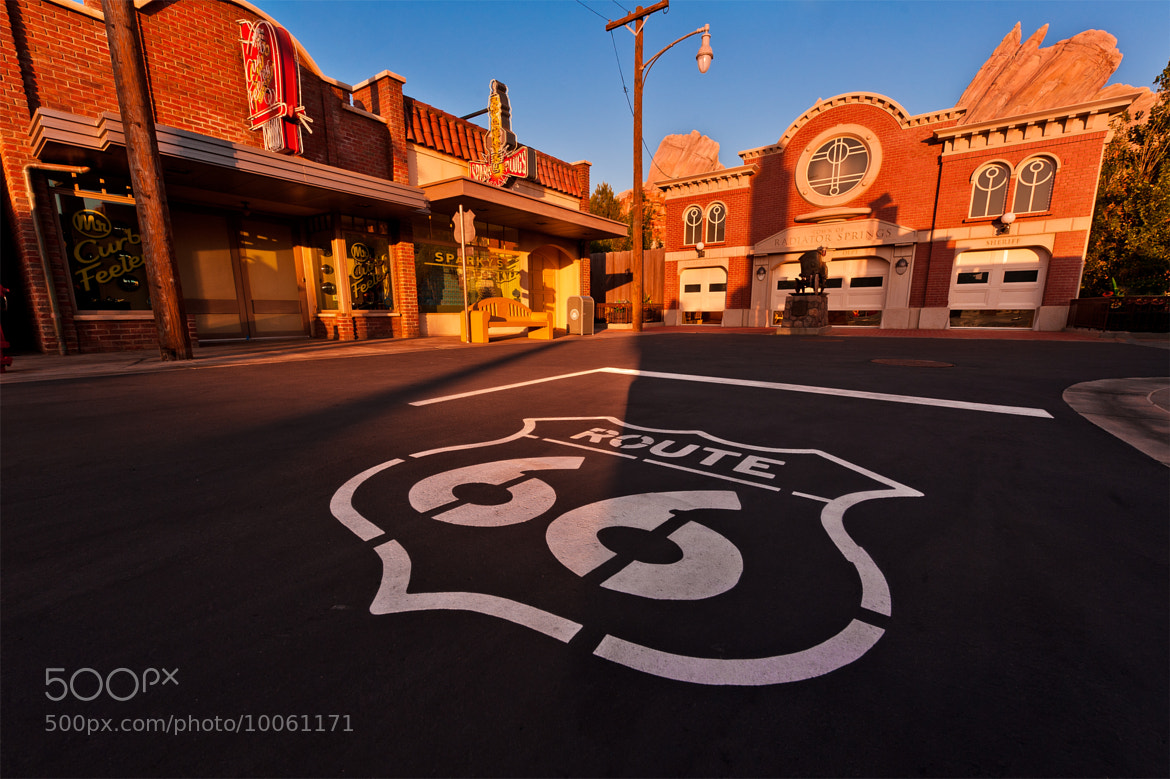 Photograph Disney's Cars Land - Get Your Kicks On Route 66 by Tom Bricker on 500px