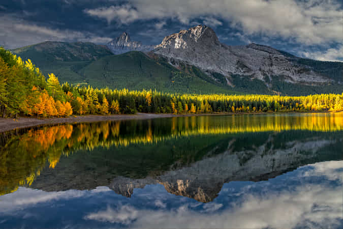 What a Morning in the Canadian Rockies! by Perry Hoag