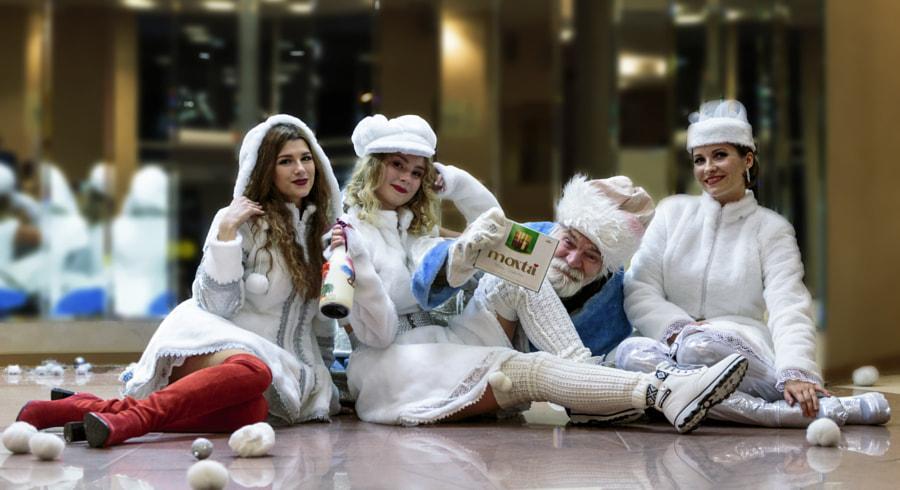 Дед Мороз и три снегурочки by Alexey Filippov on 500px.com